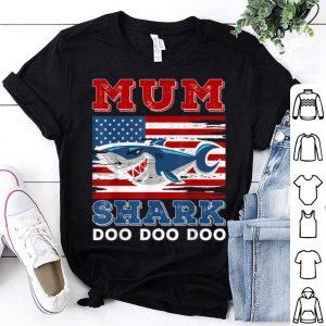 Mum Shark Doo Doo Doo American Flag shirt