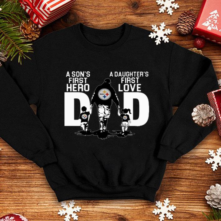 new products fba3c 4dd48 Pittsburgh Steelers a son's first hero a daughter's first love shirt,  hoodie, sweater, longsleeve t-shirt