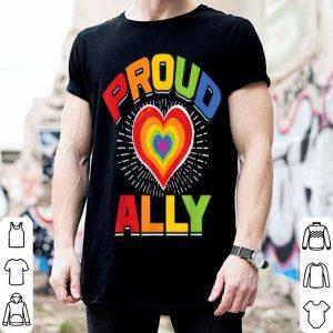 Proud Ally LGBT Rainbow Heart Gay Pride Month Awareness shirt