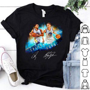 Splash Bros Klay Thompson Stephen Curry signatures shirt