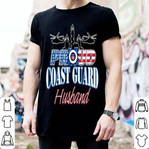 USA Proud Coast Guard Husband USA Flag Military shirt