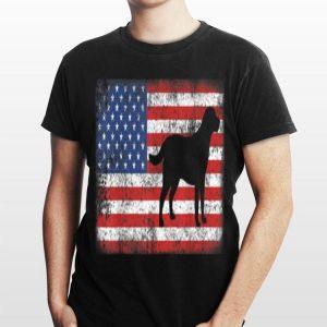 Vintage Retro American Flag Labrador Retriever shirt