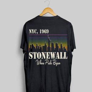 Vintage Stonewall Riots Nyc 50Th Anniversary LGBTQ Gay Pride shirt