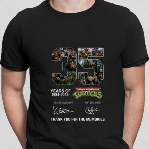 35 years of Teenage Mutant Ninja Turtles thank you for the memories shirt 1