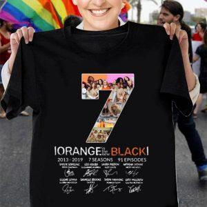 7th Season Orange is the new Black 2013-2019 signatures shirt