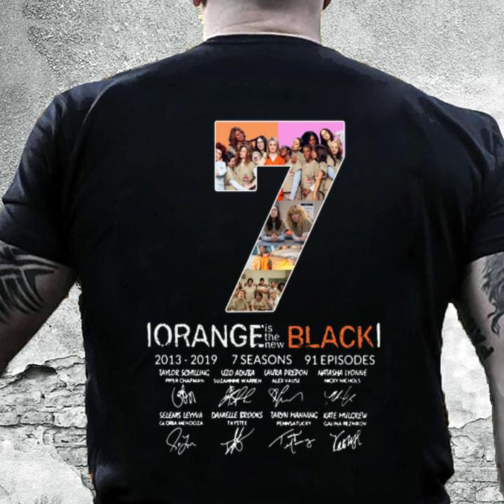 7th Season Orange is the new Black 2013-2019 signatures shirt, hoodie,  sweater, longsleeve t-shirt