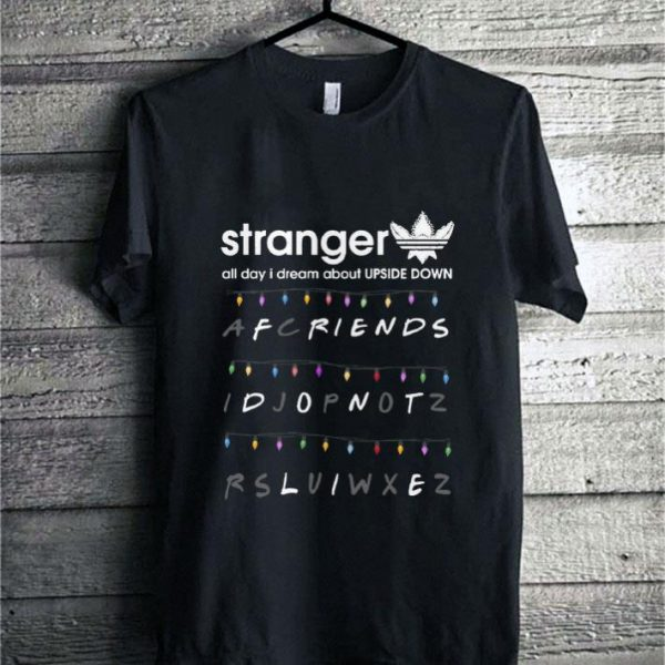 Adidas Stranger Thing Upside Down Friends don't life shirt