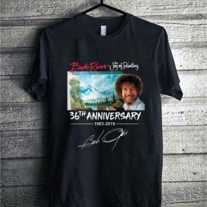 Bob Ross The Joy of Painting 36th Anniversary 1983-2019 signature shirt
