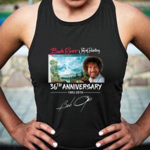 Bob Ross The Joy of Painting 36th Anniversary 1983-2019 signature shirt 2