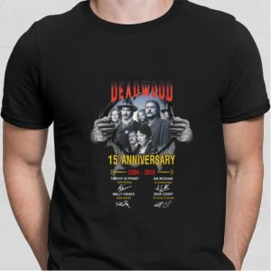 Deadwood 15th anniversary 2004-2019 signatures shirt