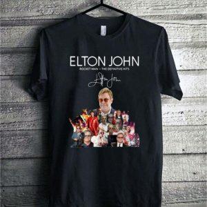 Elton John Rocket Man the definitive hits signature shirt sweater