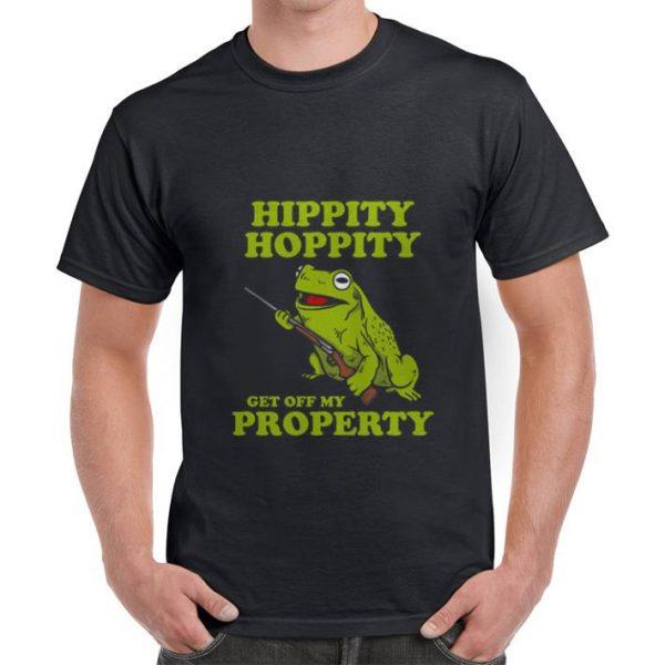 Green Hippity Hoppity get off my property shirt