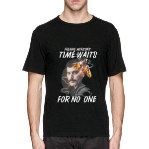 Hot Freddie Mercury time waits for no one Rock Queen shirt