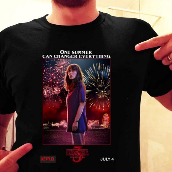 Joyce Byers Stranger Things 3 one summer can change everything shirt