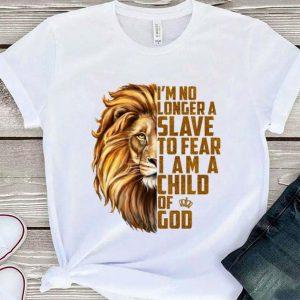Lion I'm no longer a slave to fear i am a child of god shirt sweater