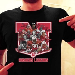 Nebraska Cornhuskers Legends signatures shirt