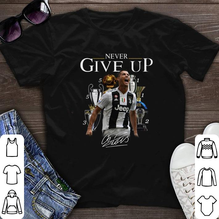 huge selection of fe121 82fe5 Never give up signature Cristiano Ronaldo shirt