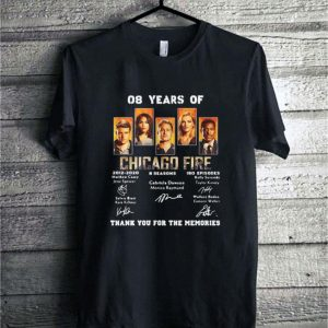 08 years of Chicago Fire 2012-2020 8 seasons 180 ep signatures shirt
