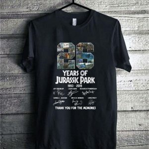 26 Years Of Jurassic Park 1993-2019 Signatures Thank You For The shirt