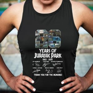 26 Years Of Jurassic Park 1993-2019 Signatures Thank You For The shirt 2