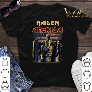 American flag Iron Maiden shirt