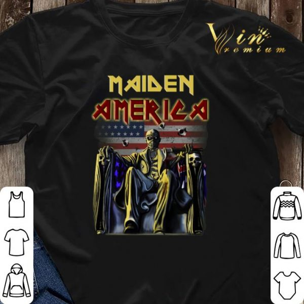 American flag Iron Maiden shirt