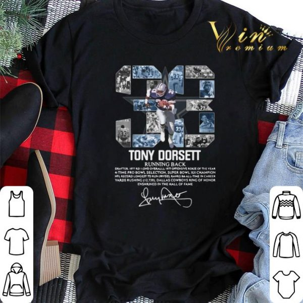 Signature 33 Tony Dorsett Running back shirt