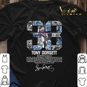 Signature 33 Tony Dorsett Running back shirt 2
