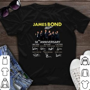 Signatures 58th Anniversary James Bond 007 1962-2020 shirt