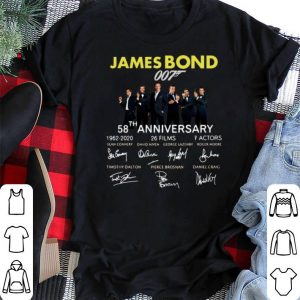 Signatures 58th Anniversary James Bond 007 1962-2020 shirt 1