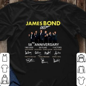 Signatures 58th Anniversary James Bond 007 1962-2020 shirt 2