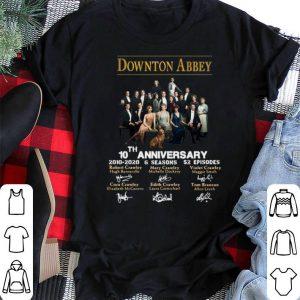 Signatures Downton Abbey 10th Anniversary 2010-2020 6 seasons shirt