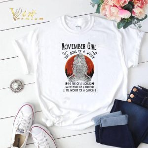 Yoga November girl the soul of a witch the fire of a lioness shirt sweater