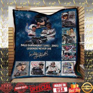 Dale Earnhardt 1951-2001 Legends Never Die Signature quilt blanket