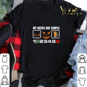 My needs are simple boob halloween beer and speed shirt sweater