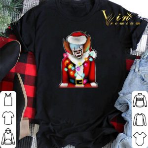Santa Claus Christmas lights IT Pennywise shirt