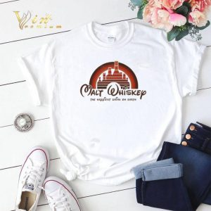 Sunset Disney Malt Whiskey the happiest drink on earth shirt