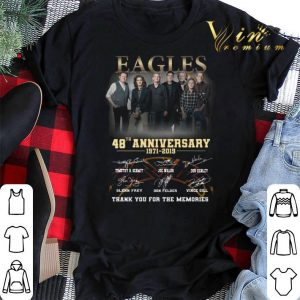 Thank you for the memories Eagles 48th anniversary 1971-2019 shirt 1