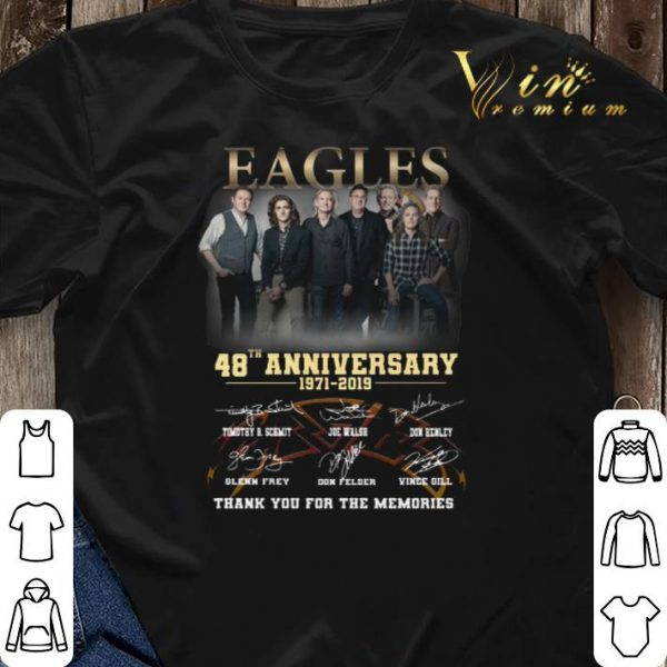Thank you for the memories Eagles 48th anniversary 1971-2019 shirt
