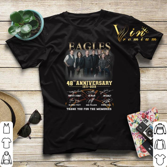 Thank you for the memories Eagles 48th anniversary 1971 2019 shirt 4 - Thank you for the memories Eagles 48th anniversary 1971-2019 shirt