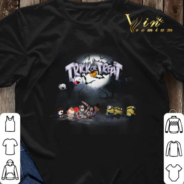 Trick or treat Horror movie characters minions shirt sweater