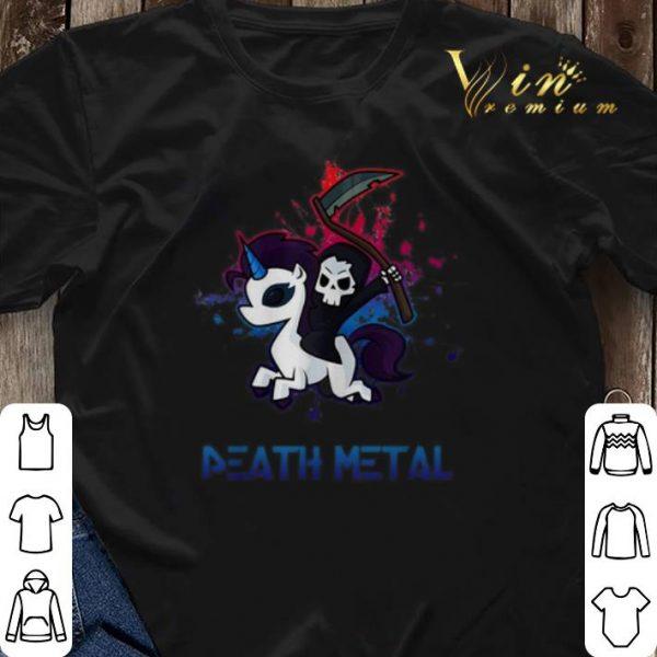 Unicorn Death Metal death riding shirt