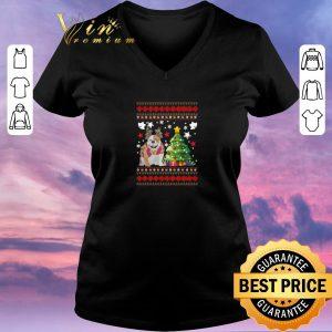 Awesome Christmas tree Bulldog shirt