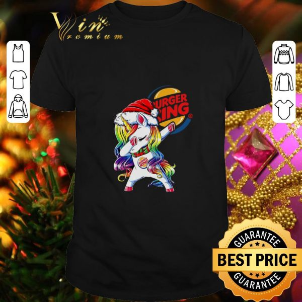 Awesome Dabbing Santa Unicorn Burger King shirt