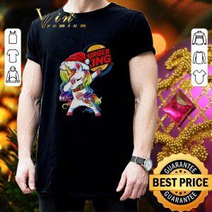 Awesome Dabbing Santa Unicorn Burger King shirt 2