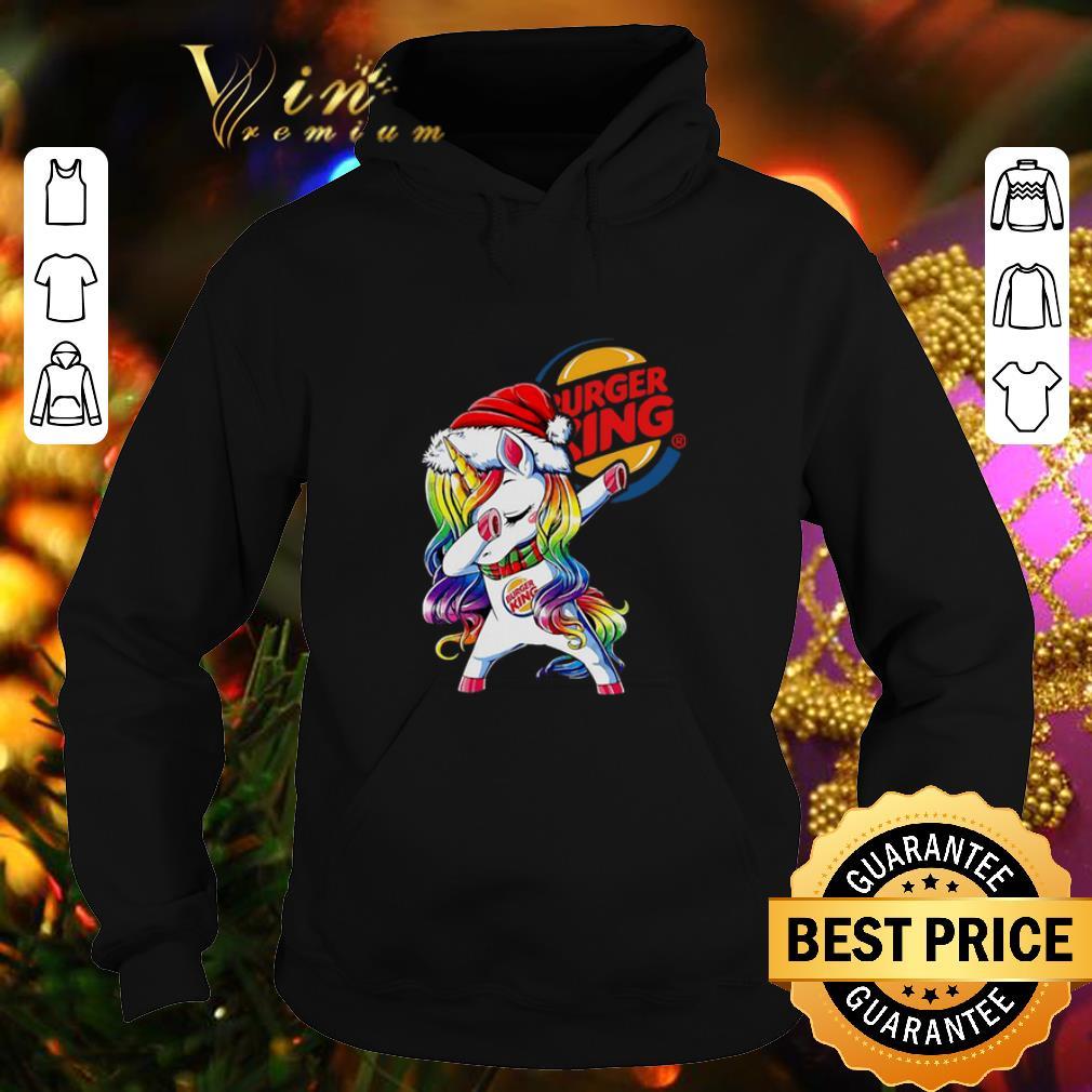 Awesome Dabbing Santa Unicorn Burger King shirt 4 - Awesome Dabbing Santa Unicorn Burger King shirt