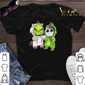 Baby Grinch and Unicorn shirt sweater