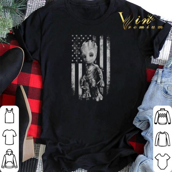 Baby Groot American flag Marvel shirt sweater