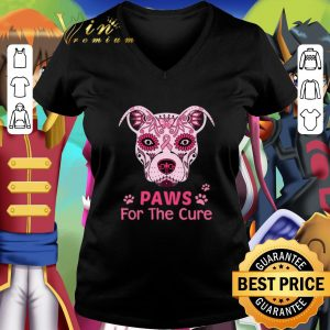 Best Top Pitbull Paws For The Cure Breast Cancer Awareness shirt