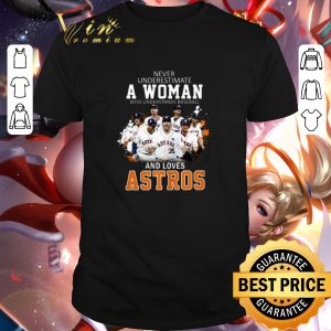 Funny Never underestimate a woman who understands baseball Astros shirt